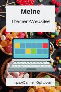 Süße Auswahl - Meine Themen-Websites, Carmen Splitt, Social Media-Coach, Bloggerin, Kreuzspinnerin, süsse Auswahl für BloggerInnen, TemSMde
